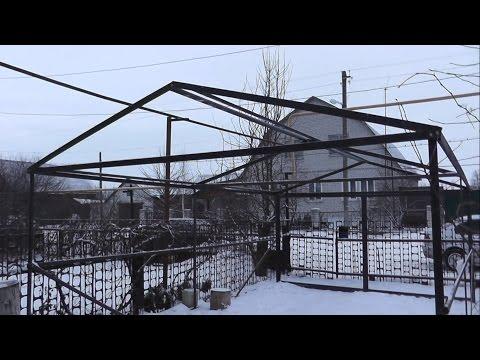 Шведский металлический гараж на даче за неделю!