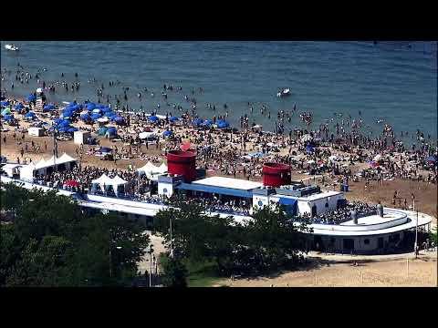 CHICAGO BEACHES NEAR CAPACITY