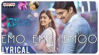 Watch & enjoy #emoemoemoo lyrical. from devadas movie. starring #akkineninagarjuna, #nani music composed by #manisharma directed #sriramaditya and produce...