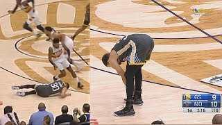 Stephen Curry Injury - Suffers Ankle Injury After Landing! Warriors vs Pelicans
