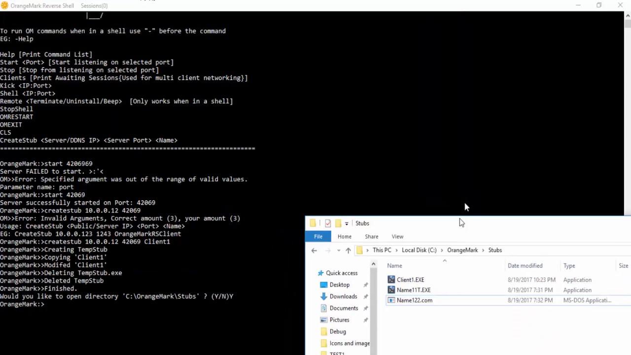 OrangeMark Remote Reverse Shell vb net