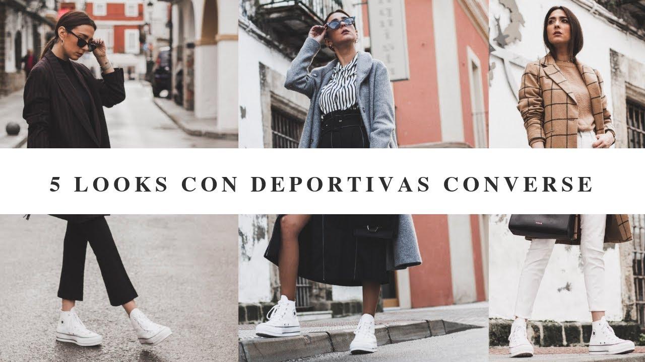 converse blancas moda