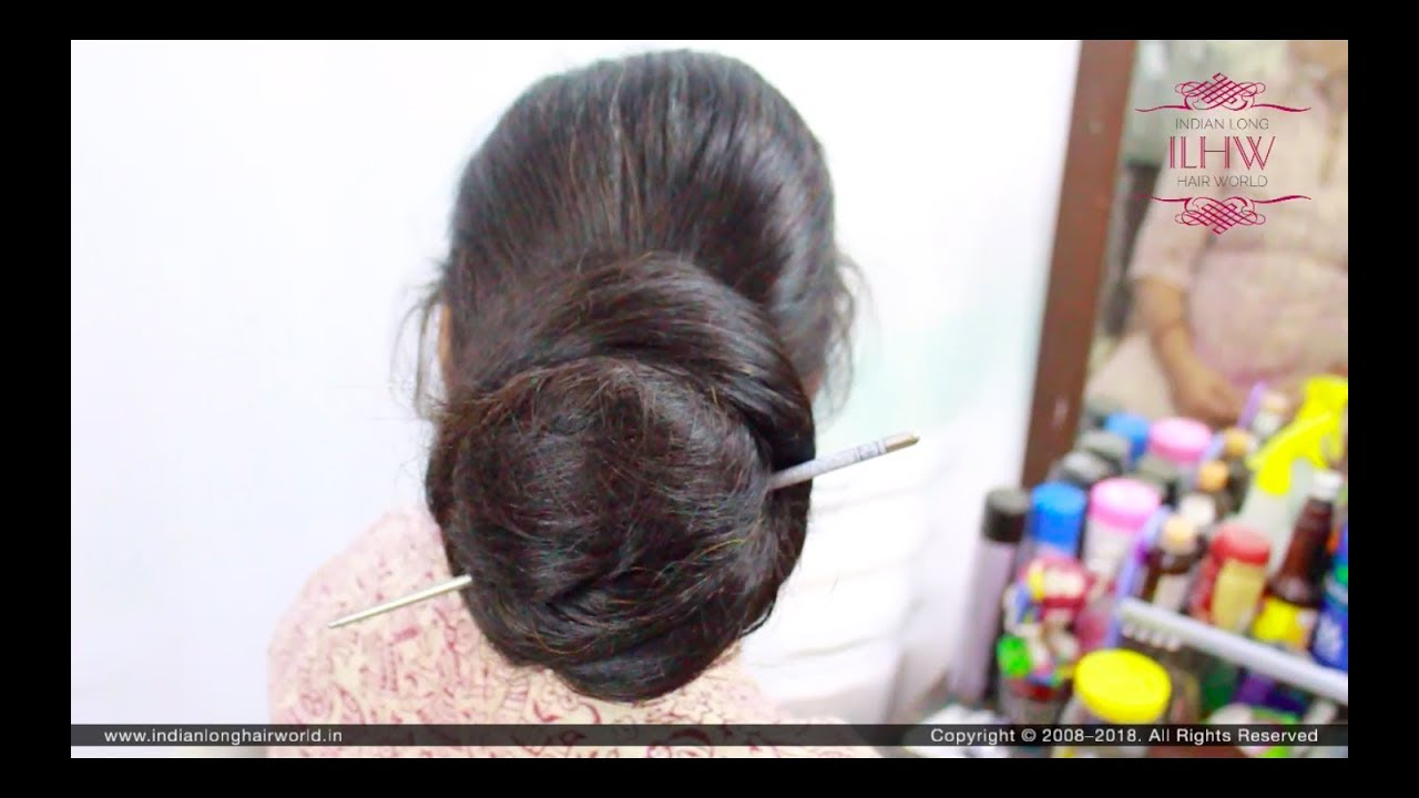 Easy & Simple Everyday Khopa (Without Knot Bun) Tutorial By Male Hair  Dresser for Knee Length Hair