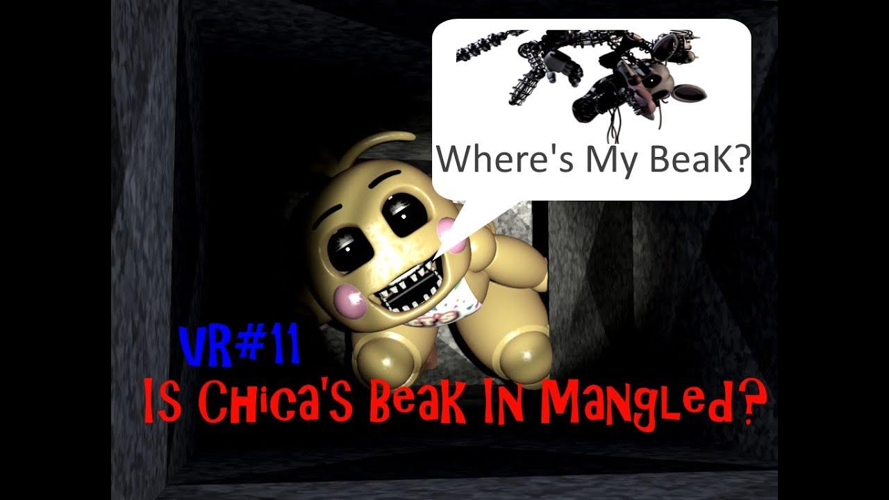FNAF 2 Toy Chicau0026#39;s Beak Inside of Mangle? Where is Her Beak? No Beak 2 ...