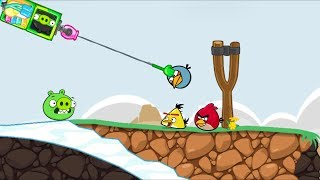 Bad Piggies - ZOMBIE TRY HOOK AND THROW OUT THE ANGRY BIRDS!