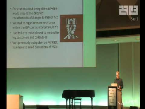 27C3 : The Importance of Resisting Excessive Government Surveillance