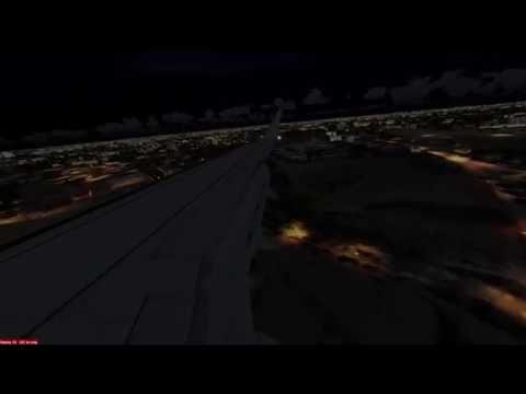 Prepar3D® v3 Visual approach in night @ Delhi Int'l