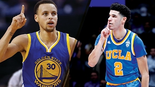 """Steph Curry """"Will Be Dethroned"""" by Lonzo Ball"""
