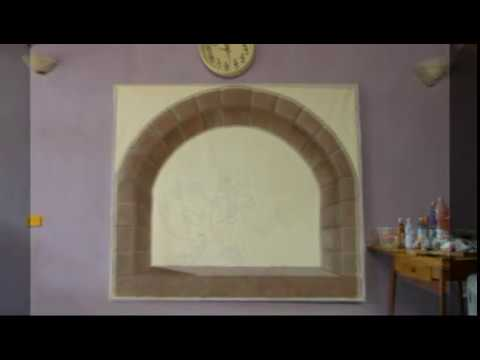Pittura acrilica:dipingere un arco in pietra (painting course 14) - YouTube