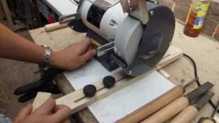 How To Build Sharpening Jig For The Bench Grinder - Woodturning Tools