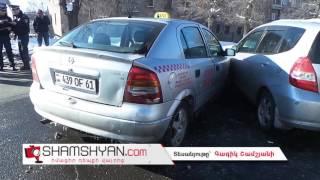 Երևանում բախվել են Opel ն ու Hyundai ն  հղի վարորդը, բարեբախտաբար, չի տուժել