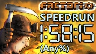 Factorio Speedrun in 1:58:15 by AntiElitz (any%) [New World Record]