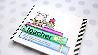 Custom Scene for Teacher Card (Zig Clean Color Markers)