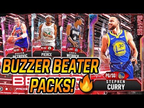 NBA 2K20 MYTEAM - NEW BUZZER BEATER PACKS + NEW LOCKER CODE! GALAXY OPAL STEPHEN CURRY!