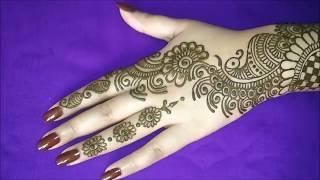 बैकहैंड के लिए सुंदर अरबी मेहंदी डिजाइन || Beautiful arabic mehndi design for backhand