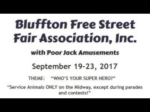 2017 Bluffton Street Fair Opening Day Parade 9/19/17