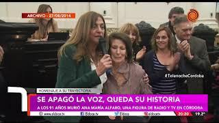 Murío Ana Maria Alfaro, pero nos dejó su historia.