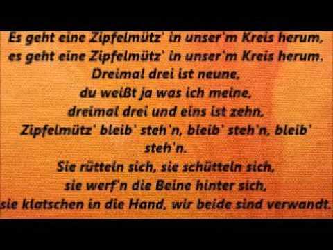 Singe! Es Geht Eine Zipfelmütz'! Mit Text Lyrics