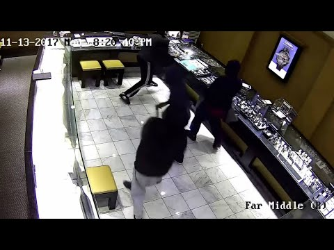 RAW: Surveillance Video Of Attempted Robbery At Pleasanton Jewelry Shop