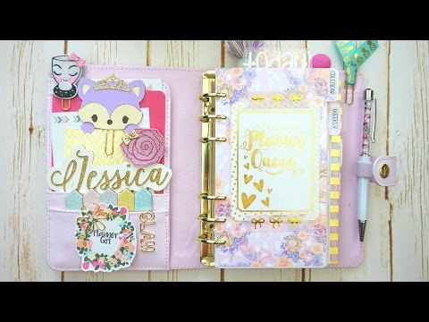 Plan with me// Personal Size (Sew Much Crafting Inserts) Ft. Little Miss Paperie
