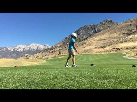 Elliot on 13 at Cedar Hills golf course in Utah