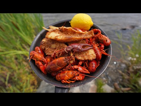 Spicy HUGE Crawfish And Cajun Walleye Catch And Cook!