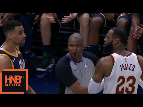 LeBron James & Thabo Sefolosha Gets Technical Fouls / Cavaliers vs Jazz