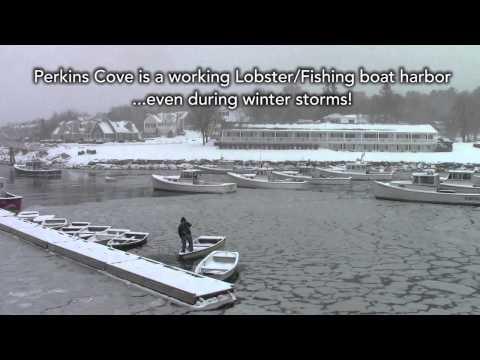 Perkins Cove - Ogunquit - Valentine's Eve Snow Storm