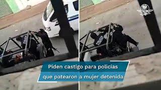 El video fue difundido por la diputada local del PRD, Dolores Gutiérrez Zurita a través de su cuenta en Twitter, donde cuestionó la forma en que había sido golpeada la fémina