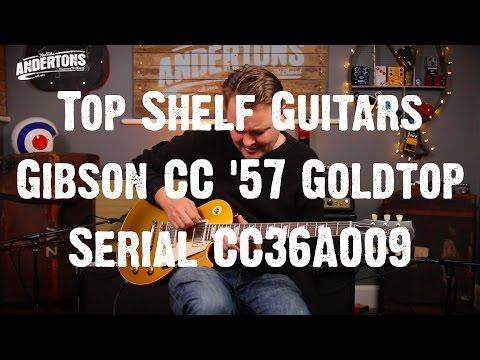 Top Shelf Guitars - Gibson Collectors Choice #36 '57 Goldtop aka Gold finger Serial CC36A009