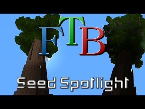 Feed the Beast Direwolf20 Seed - Giant Redwoods & Villages!