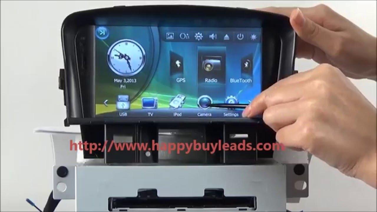 Chevrolet Cruze Car Audio System Dvd Gps Navigation Stereo Bluetooth Fuse Box Tv Youtube