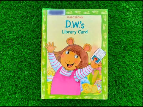 D.W.'s Library Card Arthur Learn English Bullies kids read to me Baby book all ages