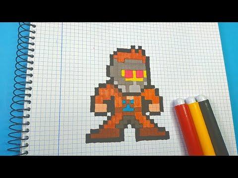 Como Dibujar a STAR LORD de MARVEL | Pixel Art Tutorial thumbnail