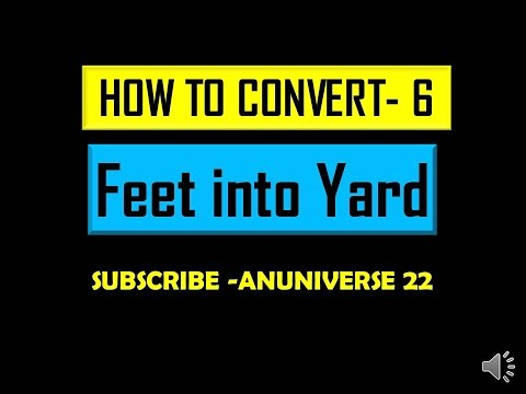 Convert Feet Into Yard