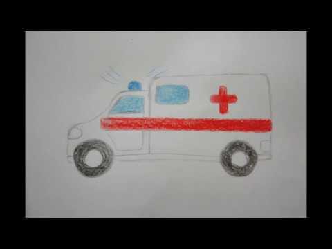 krankenwagen zeichnen f r kinder how to draw ambulance. Black Bedroom Furniture Sets. Home Design Ideas