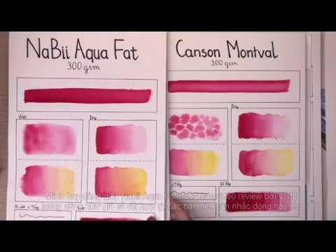 Cảm nhận giấy vẽ màu nước, sổ vẽ màu nước phổ biến P.1 – Review watercolor paper | Lobeo ( Lỗ Béo )