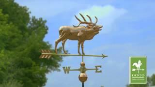 Good Directions 648p Elk Weathervane - Polished Copper