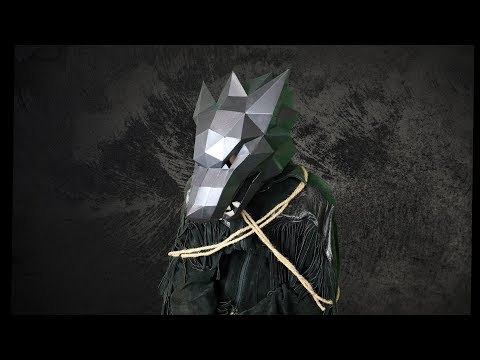 Wolf Mask Paper Kit DIY with Costume Ideas
