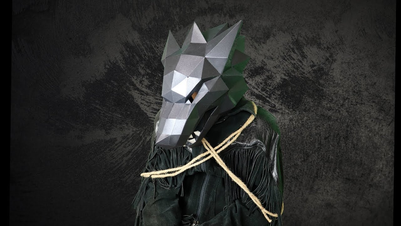 Wolf Mask Paper Kit Diy With Costume Ideas Youtube
