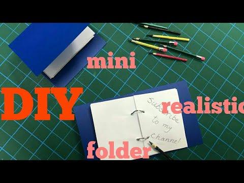 Miniature DIY Folder Tutorial/ School Supplies