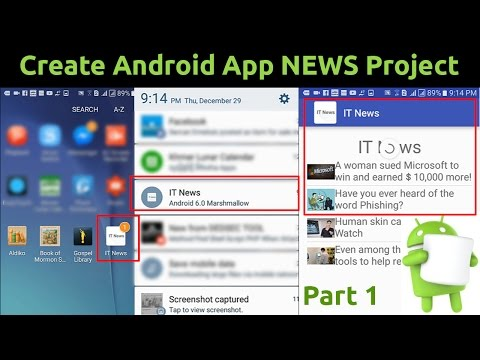 Create Android App NEWS Projects   - Part 1
