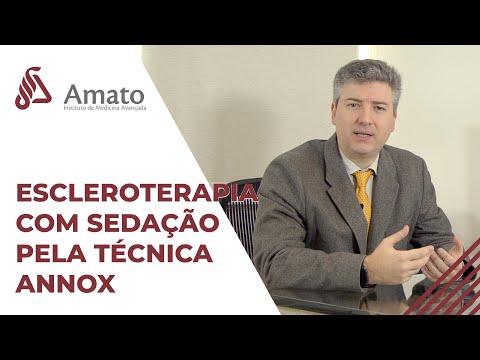 Escleroterapia com sedação Annox