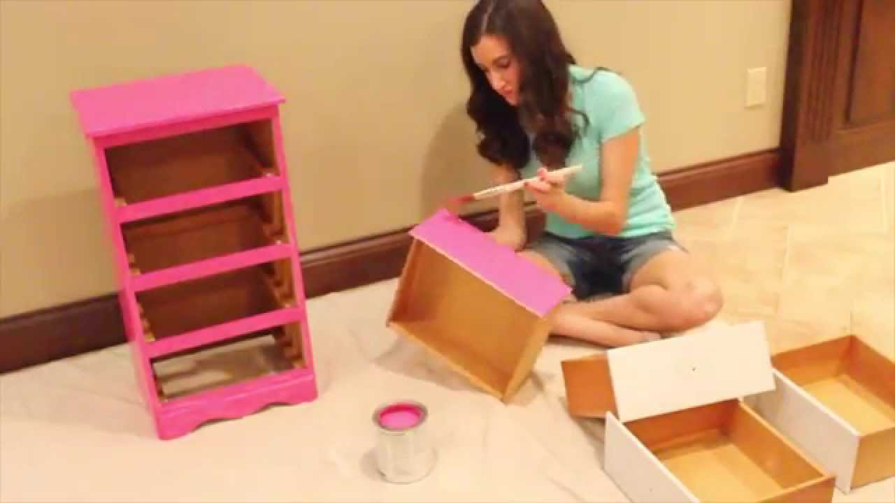 how to paint furniture diy painted nightstand youtube