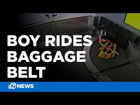Lisa St. Regis - Toddler (VIDEO) Takes Crazy Ride Through Airport on Luggage Conveyor Belt