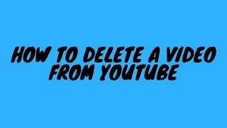 How To Delete A Video From Youtube (Malayalam)