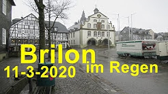 Brilon im Regen 11. März 2020