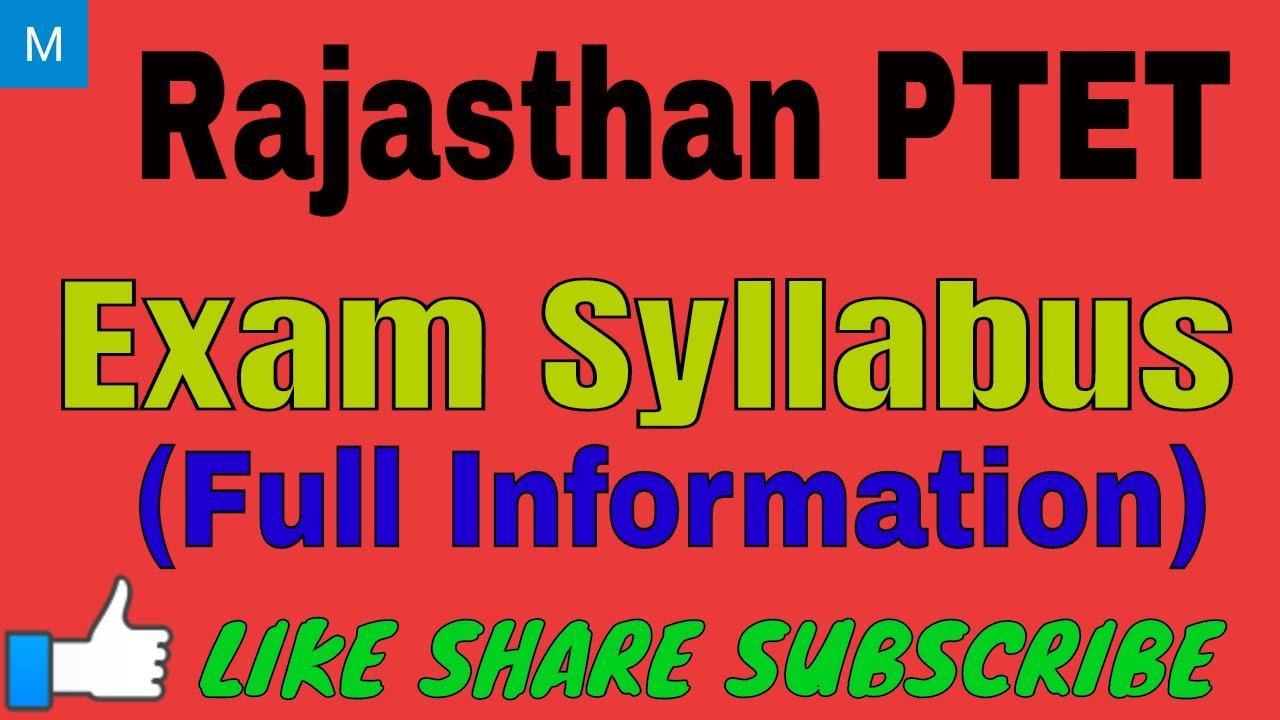 Ptet Syllabus 2015 Pdf In Hindi