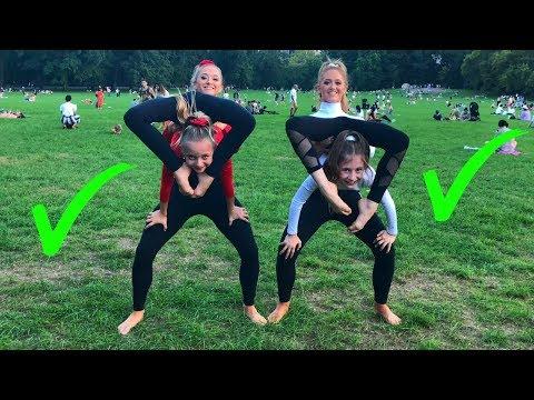EXTREME Yoga Challenge with Elliana & Lilliana from DANCEMOMS!!!