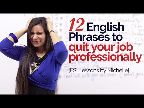 12 English phrases to 'Quit your job professionally' – Job interview Skills |Business English Lesson